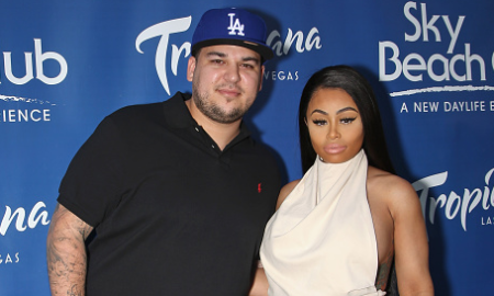 Television personality Rob Kardashian (left) and model Blac Chyna attend the Sky Beach Club at the Tropicana Las Vegas on May 28, 2016 in Las Vegas, Nevada. (Photo credit:  Gabe Ginsberg/Getty Images)