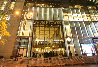 View of new police security posts outside of Trump Tower that have been installed since Donald Trump became the president-elect on November 15, 2016 in New York. ( (Photo credit: Vanessa Carvalho/Brazil Photo Press/LatinContent/Getty Images)
