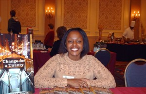 Shamontiel at National Association of Women Businessowners book signing event (Photo courtesy of Shamontiel)