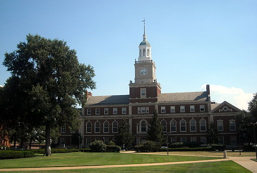 'Founders Library — on the campus of Howard University in Washington, D.C. (Architecth: Albert I. Cassell; Photo credit: Josh/Wikimedia Commons)