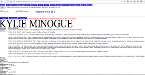 Kylie Minogue: United States Patent and Trademark Office