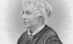"American reformer and suffragette Elizabeth Cady Stanton who, along with Lucretia Mott and Susan B Anthony, was an early crusader and spokesperson for women's rights. She was an editor of the feminist magazine Revolution and her own writings include ""Eighty Years and More."" Engraving by HB Hall. (Photo credit: Hulton Archive/Getty Images)"